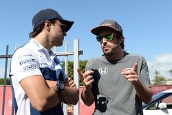 Felipe Massa, Williams and Fernando Alonso, McLaren