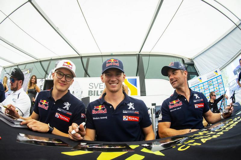 Kevin Hansen, Team Peugeot Total, Timmy Hansen, Team Peugeot Total, Sébastien Loeb, Team Peugeot Total
