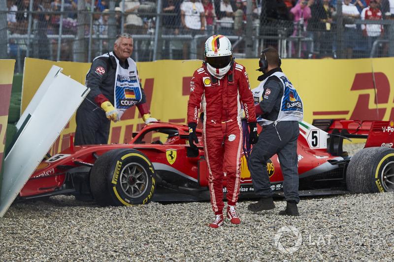 De foutenlast van Sebastian Vettel