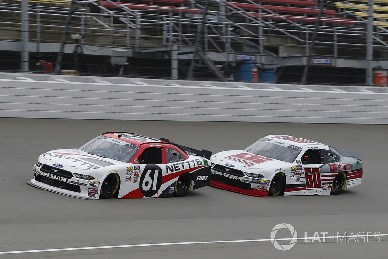 Kaz Grala, Fury Race Cars LLC, Ford Mustang NETTTS and Chase Briscoe, Roush Fenway Racing, Ford Mustang LTi Printing