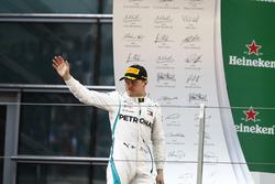 Valtteri Bottas, Mercedes AMG F1, 2nd position, arrives on the podium