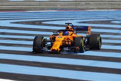 Fernando Alonso, McLaren MCL33, va fuori dalla pista