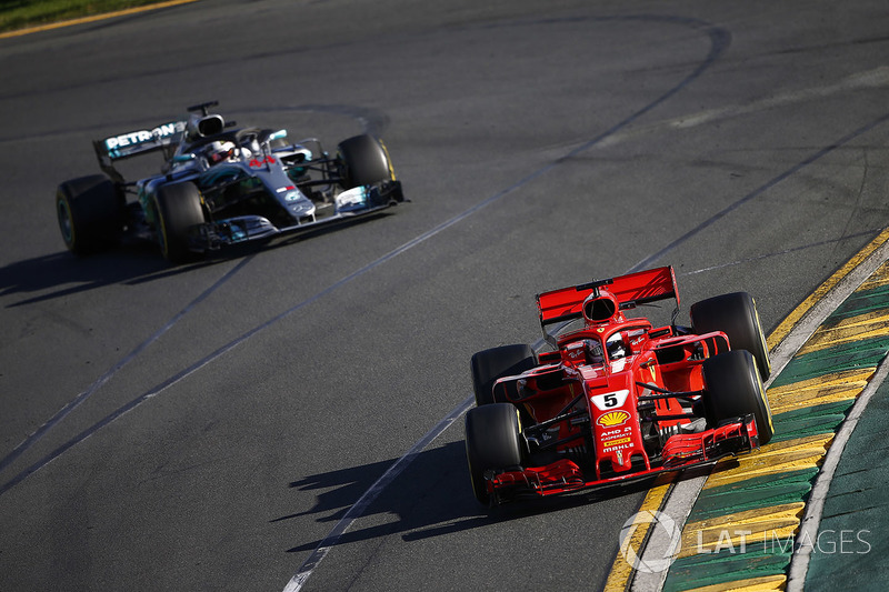 Hamilton bingung saat Vettel menyalipnya usai pitstop