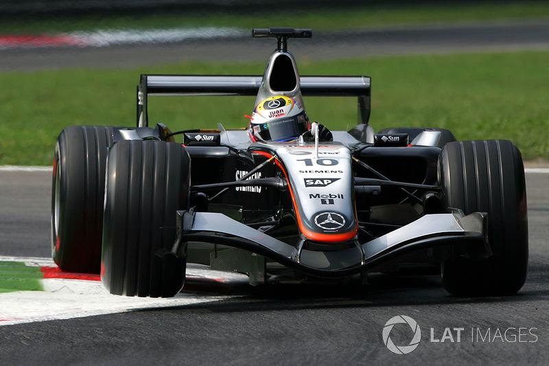 7º Juan Pablo Montoya, McLaren Mercedes MP4/20; Monza 2005: 257,295 km/h