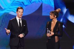 Benedict Cumberbatch and Kate Abdo