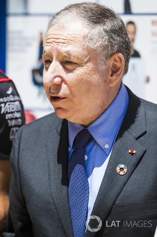 Jean Todd at the FIA e-Village stand, with Jose Maria Lopez, Dragon Racing. & Lucas di Grassi, Audi Sport ABT Schaeffler