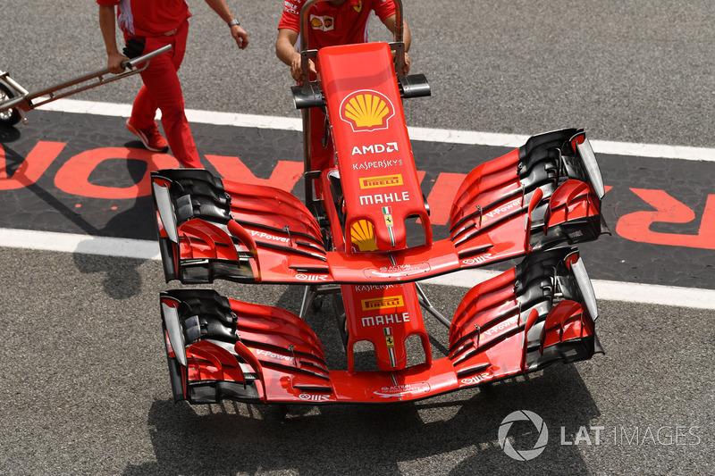Ferrari SF71H nose, front wings