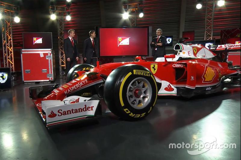 Sebastian Vettel, Ferrari, Kimi Raikkonen, Ferrari e Maurizio Arrivabene chefe da Ferrari