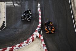 Team Colombia Gabby Chaves, leads Team Brazil Felipe Massa, driving the Polaris Slingshot SLR