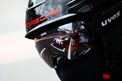 #1 Porsche Team Porsche 919 Hybrid: Neel Jani, Andre Lotterer, Nick Tandy in the reflection of a Por