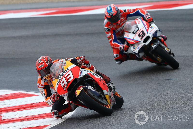 Marc Marquez, Repsol Honda Team, Danilo Petrucci, Pramac Racing