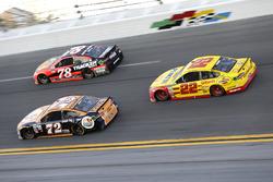 Cole Whitt, TriStar Motorsports Ford; Martin Truex Jr., Furniture Row Racing Toyota, Joey Logano, Team Penske Ford