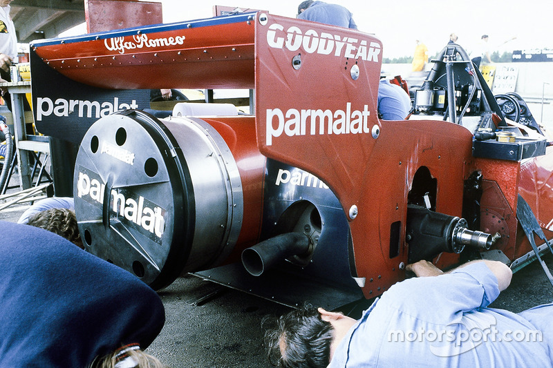 The Rear End Of Niki Lauda S Brabham Bt46b Alfa Romeo Fan Car At