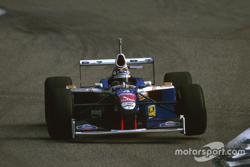 Heinz-Harald Frentzen, Williams FW1 failed to finish after a collision with Irvine