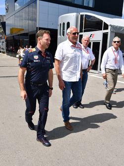 Christian Horner, Red Bull Racing Team Principal and Dietrich Mateschitz, CEO and Founder of Red Bul
