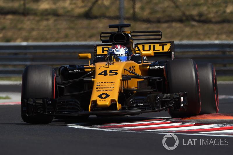 Nicholas Latifi, Renault Sport F1 Team RS17, con sensores