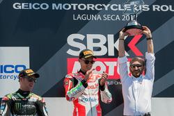 1. Chaz Davies, Ducati Team; 2. Jonathan Rea, Kawasaki Racing