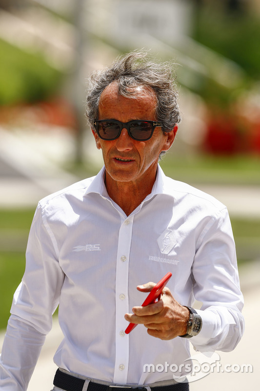 Alain Prost, former world champion and Advisor, Renault Sport F1 Team