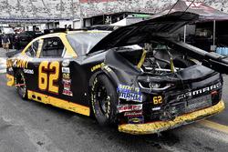 The crashed car of Brendan Gaughan, Richard Childress Racing Chevrolet