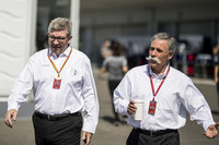 Ross Brawn, Formula One Managing Director of Motorsports and Chase Carey, Chief Executive Officer and Executive Chairman of the Formula One Group