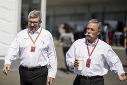 Ross Brawn,Managing Director del Motorsport Formula One e Chase Carey, Chief Executive Officer ed Executive Chairman del Formula One Group