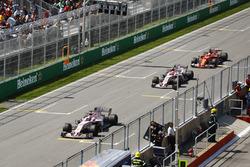 Серхіо Перес, Естебан Окон, Sahara Force India F1 VJM10, Себастьян Феттель, Ferrari SF70H