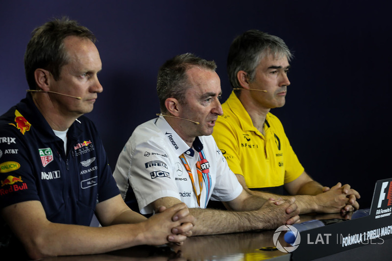 Paul Monaghan, Red-Bull-Chefingenieur, Paddy Lowe, Williams-Technikchef, Nick Chester, Renault-Technikchef