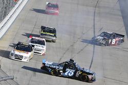 Parker Kligerman, Henderson Motorsports Toyota, John Hunter Nemechek, SWM-NEMCO Motorsports Chevrole