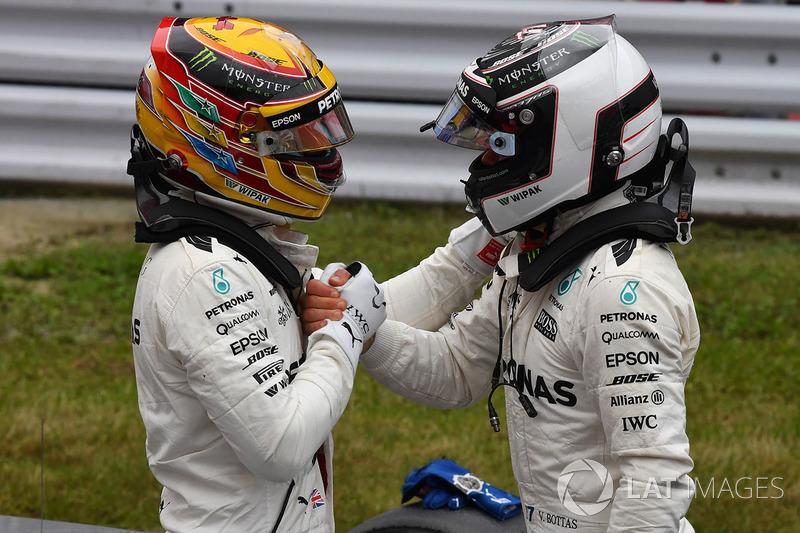 Hamilton y Bottas