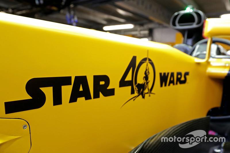 star wars logo on the renault sport f1 team rs17 at monaco gp