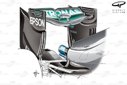 Mercedes F1 W07 'Spoon' rear wing