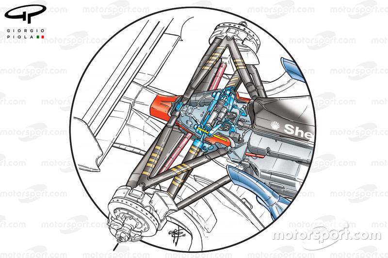 Ferrari F2002 (653) 2002 dettaglio sospensione posteriore