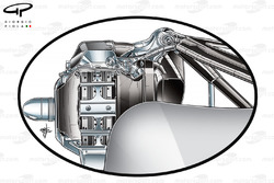 Mercedes W02 rear suspension