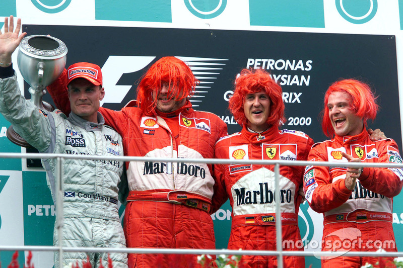 2000 : 1. Michael Schumacher, 2. David Coulthard, 3. Rubens Barrichello