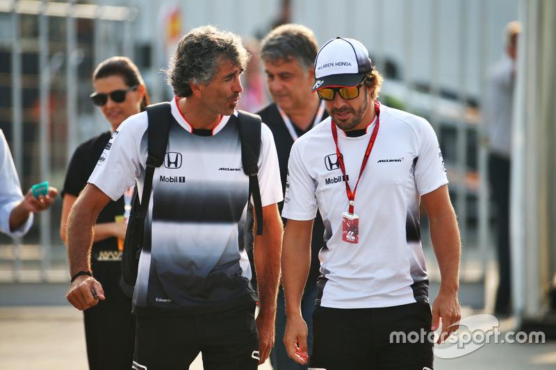 Fernando Alonso, McLaren con Edoardo Bendinelli, Personal Trainer
