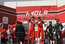 Gara 1, podio GT3: al secondo posto Casè-Tempesta, Scuderia Baldini 27 Network, i vincitori Leo-Cheever, Scuderia Baldini 27 Network, al terzo posto Postiglione-Gagliardini, Imperiale Racing