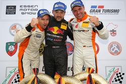 Podium: Manuel Lauck, Kiki Sak Nana, Adam Osieka, Porsche 911 GT3 Cup