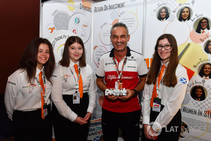 Beat Zehnder, Alfa Romeo Sauber F1 Team Manager y estudiantes