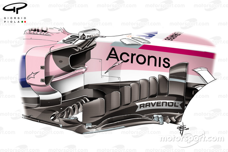 Force India nuovo bargeboard