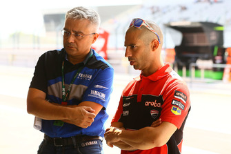 Marco Melandri, Aruba.it Racing-Ducati SBK Team, mit Andrea Dosoli, Yamaha