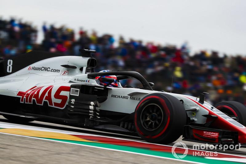 8. Ромен Грожан, Haas F1 Team VF-18, 1:34.250