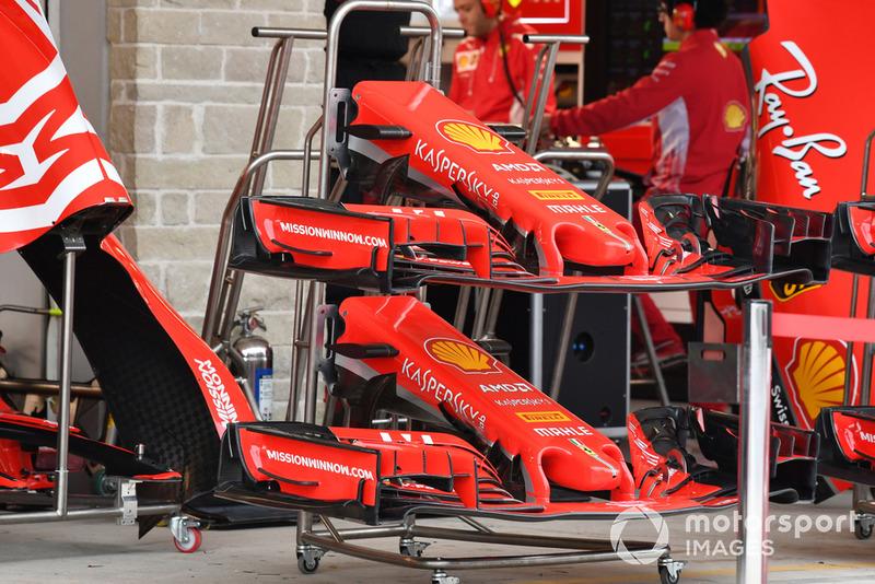 Des nez et ailerons avant de Ferrari SF-71H