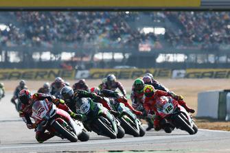 Lorenzo Savadori, Milwaukee Aprilia, Toprak Razgatlioglu, Kawasaki Puccetti Racing