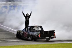Brett Moffitt, Hattori Racing Enterprises, Toyota Tundra celebrates his win