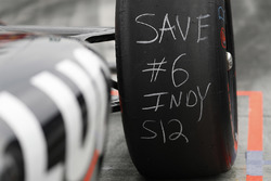 Un pneu de Robert Wickens, Schmidt Peterson Motorsports Honda