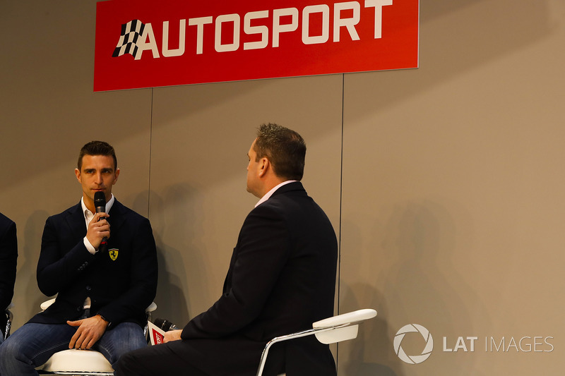 Alessandro Pier Guidi talks to Henry Hope-Frost on the Autosport Stage