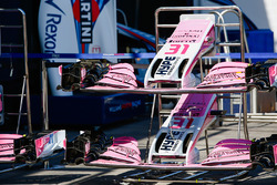 Front wings of Sergio Perez, Force India and Esteban Ocon, Force India