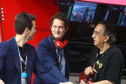 John Elkann, presidente FIAT, con Sergio Marchionne