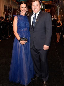 Ryan Newman, Richard Childress Racing Chevrolet, mit Ehefrau Krissie