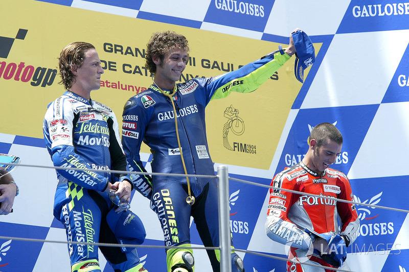 Podium : Sete Gibernau, Valentino Rossi, Marco Melandri